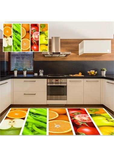 Halı Sebze Meyve Modern Mutfak Halıları 80X150Cm Renkli